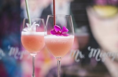 Cocktails served at Mr Miyagi restaurant