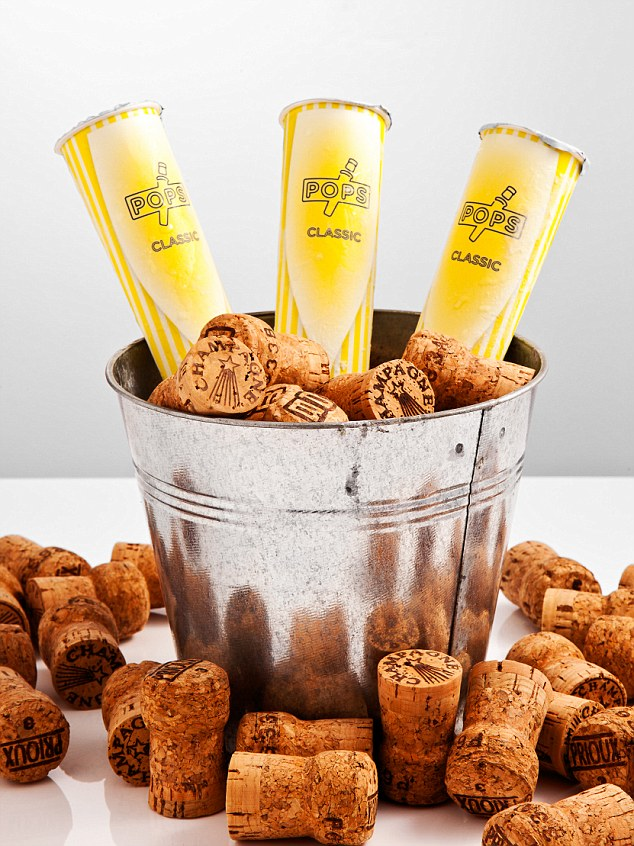 Champagne popsicles