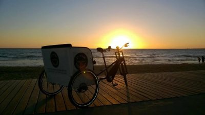 Rickshaws on St Kilda beach