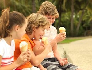 Eating ice creams near Docklands